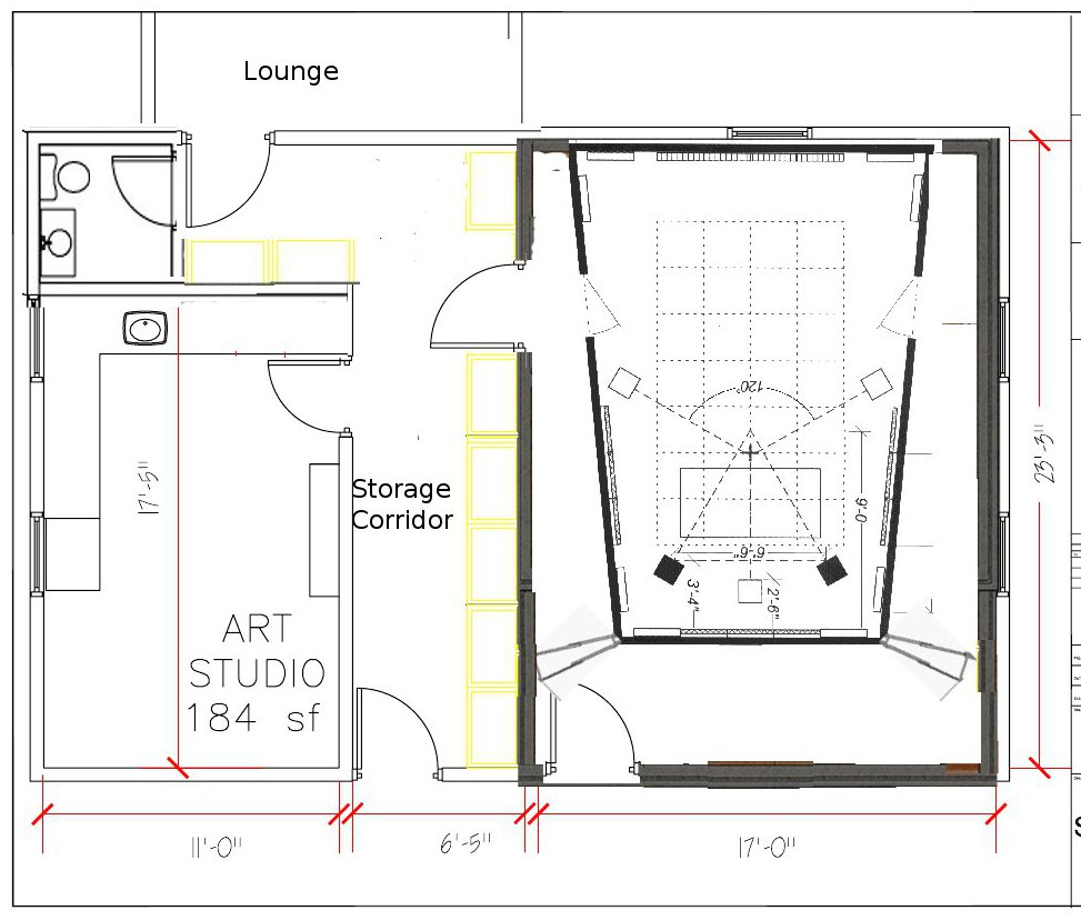 Recording Studio Floor Plans Studio Apartment Floor Plans